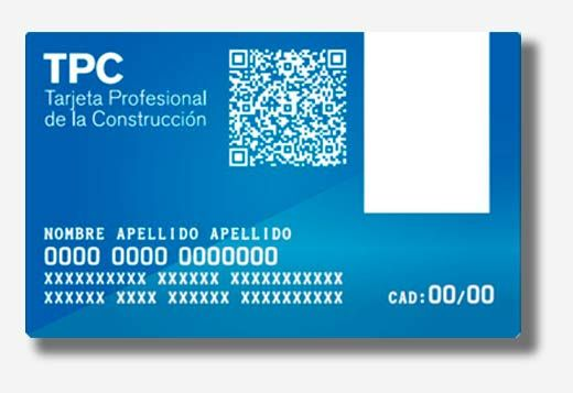 tarjeta Profesional de la Construcción TPC